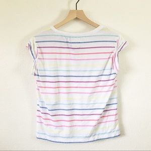 Chaser Rainbow Striped Vintage Jersey Baby Tee